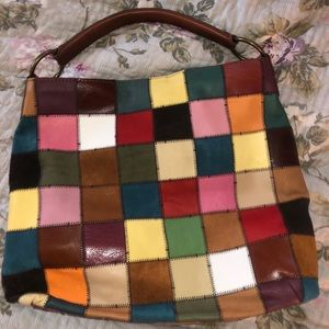 Lucky Suede Patchwork Hobo Bag